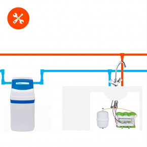 УCTановка и пробный запуск компактного или классического фильтра для дома ВМЕCTЕ с фильтром для питьевой воды