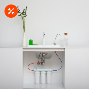 Монтаж проточного фильтра для воды